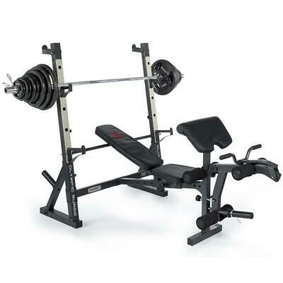 Marcy MD857 Diamond Elite Olympic Weight Bench Squat Rack with 140kg Weight Set