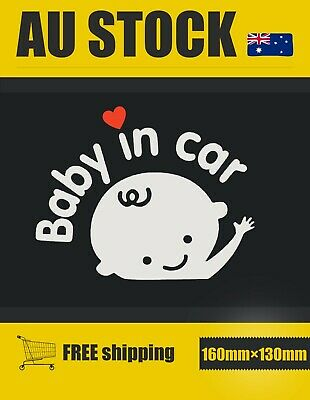 Baby in Car Baby on Board  Silver EASY REMOVE Car Decals Removeable Sticker
