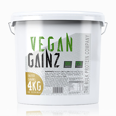 Vegan Gainz - 4kg - Healthy Protein Powder Mass Gainer (Salted Caramel Flavour)