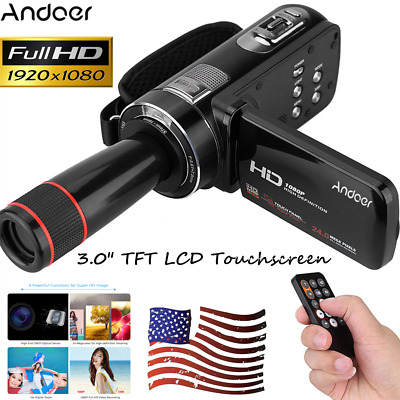 "Andoer 3.0 "" LCD Touchscreen 1080P Full HD  Digital Video Camera Camcorder R1L1"