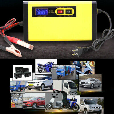 Car Truck Motorcycle Battery Charger Maintainer 12V Automatic Intelligent LCD