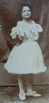 Cabinet Photo Portrait Of Lovely Little Irene Myers Child Stage Actress York Pa