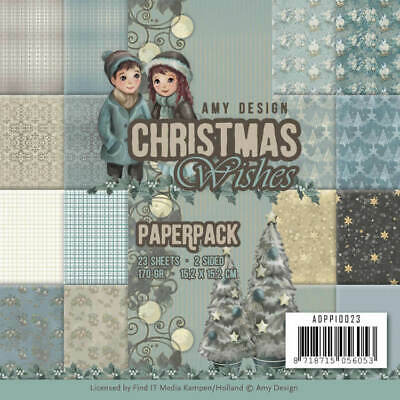 Amy Design Paperpack Papier Set Christmas Wishes 23 tlg. 15,2x15,2cm