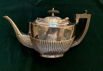 "Fluted Teapot Silver Plated ""C G& Co."" E.P.N.S., Pre-1940, Lovely, Practical!"