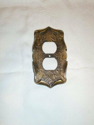 Vtg Amerock Carriage House Brass Outlet Plate Cover VGC