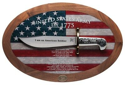 CASE XX U.S. Army Bowie Knife Display Set American Flag 1/175 Stainless 15009