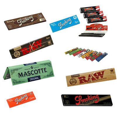 SMOKING RAW MASCOTTE Rolling Paper Booklets Regular King Size Tips