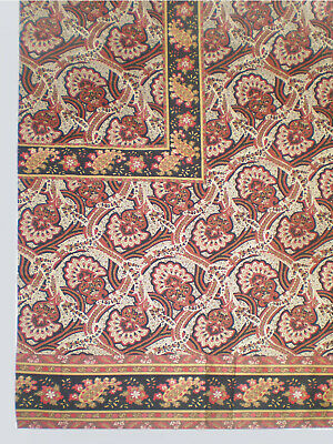 "New WILLIAMS-SONOMA COTTON TABLECLOTH Indienne Paisley Print 90""X70"""