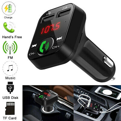Bluetooth Car FM Transmitter USB Charger Wireless Radio Adapter MP3 Player