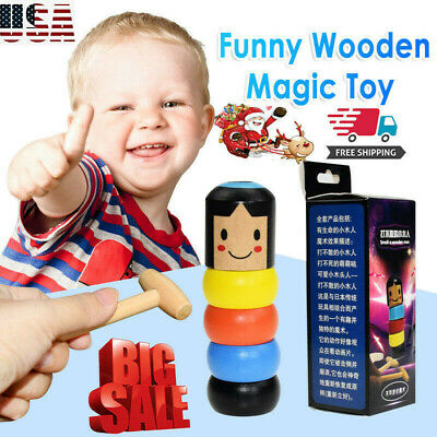Magic Toy Unbreakable Wooden Man Christmas Halloween Gift Funny Toys