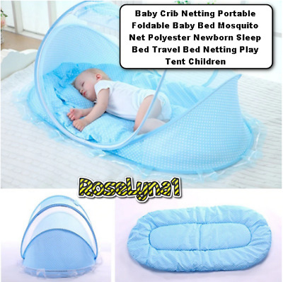 Baby Crib Netting Portable Foldable Baby Bed Mosquito Net Polyester Newborn Slee