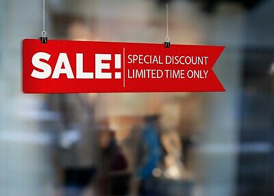 Sale Now Special Discount Limited Poster Or Sticker Colour Printed Sign 4566