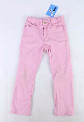 H&M Girls Pink Summer Spring Girly Causual Denim Jeans Age 5-6