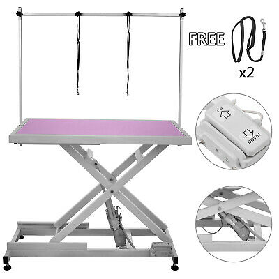 Table de Toilettage Soins Chien Chat 2 Sangles Grooming Table Electrique