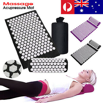 Acupressure Yoga Mat With Pillow Massage Sit Lying Mats Stress Soreness Cut Pain