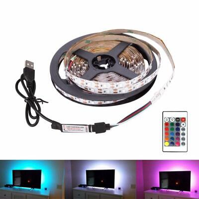 USB LED Strip 0.5-5M DC 5V SMD Flexible Light Mini 3Key Desktop Background Light