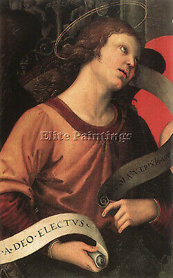 Raphael Angel Fragment Of The Baronci Altarpiece Artist Painting Handmade Canvas