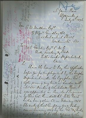 EGYPT ÄGYPTEN 1896 CPL LETTER SIGNED by EGYPTOLIST ??
