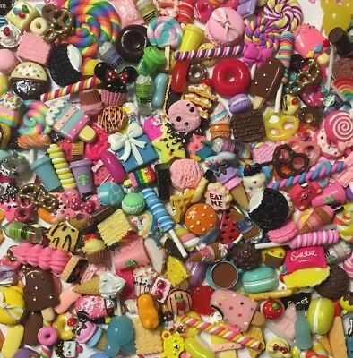 NEW PIECES Kawaii Assorted Sweet Mix Cabochons Embellishments Decoden 600 Pieces