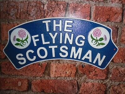Cast Iron FLYING SCOTSMAN THISTLE Sign
