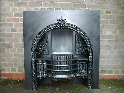Victorian cast iron fireplace. Arched insert Coalbrookdale