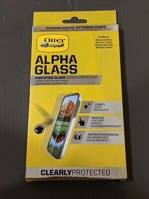 Brand New OtterBox ALPHA GLASS SERIES Screen Protector Apple iPhone 8+/7+/6s+/6+