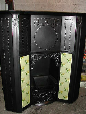 Victorian cast iron combination fireplace. Arts & Crafts by Coalbrookdale