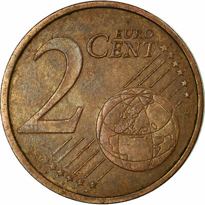 [#516428] Eurozone, 2 Euro Cent, Double revers, EF(40-45), Coppered Steel