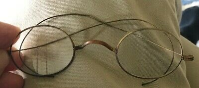 Antique Gold Fill Wire Rimmed Eyeglasses Spectacles 1920s USA