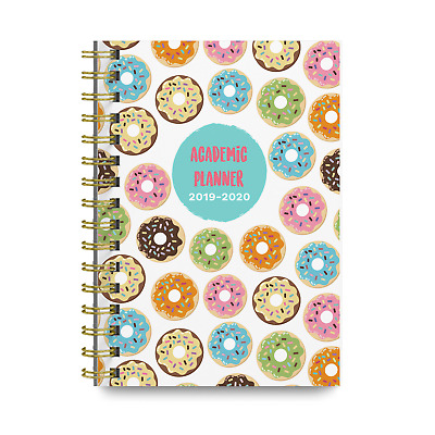 Donuts 2019-2020 Academic Monthly and Weekly Planner Cute College Agenda