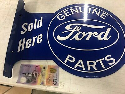 Ford Genuine Parts double sided metal wall flange sign 350mm