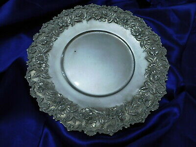 Kirk & Son Sterling Silver Hand Decorate Repousse Tray - Very Good Condition