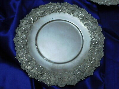 Kirk & Son Sterling Silver Hand Decorate Repousse Tray - Good Condition