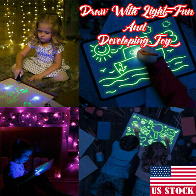 Draw With Lights Fun And Developing Toy Drawing Board Magic Draw Educational USA
