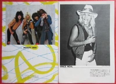 Motley Crue Vince Neil Nikki Sixx Tommy Lee 1985 Clipping Japan Ml 4A 2Page
