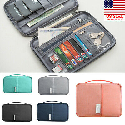 US NEW Travel Wallet Family Passport Holder Waterproof ID Card Document Case Bag