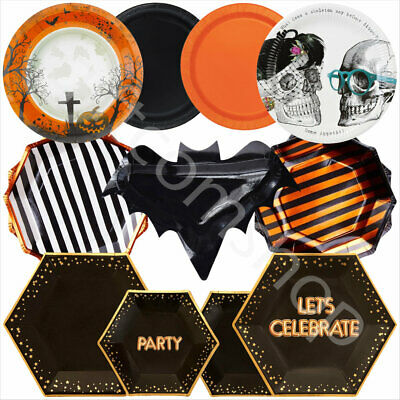 Halloween Party Plates Disposable Tableware Supplies Halloween Table Decorations