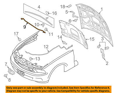 FORD OEM Hood-Support Prop Rod 8L8Z16826A
