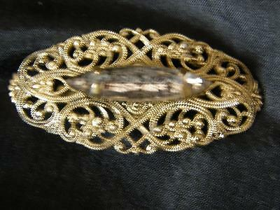 Vintage Art Deco Czech Bohemian Filigree Brooch Pin