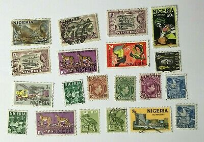 Mixed Job Lot of - Nigeria - Postage Stamps - Used - Off Paper