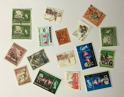 Job Lot of - Used - Off Paper - Mixed World - Postage Stamps - Inc Kenya