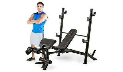 Marcy MD-867W Diamond Bench, Rack, Rear Squat Cage + 6FT BAR & 80KG WEIGHTS