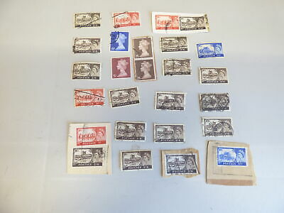 GB Castles and Machins Pre Decimal High Value to 10/- See images