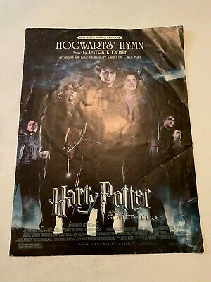 2005 Harry Potter And The Goblet Of Fire Hogwarts Hymn Sheet Music