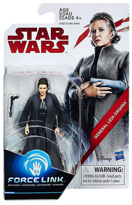 "Star Wars Force Link General Leia Organa 3.75"" Figure New The Last Jedi"
