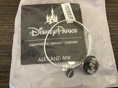 NEW Disney ALEX AND ANI Haunted Mansion Singing Busts SILVER Bangle Bracelet