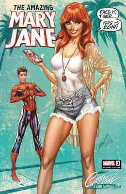 Amazing Mary Jane 1 Mj J Scott Campbell A Exclusive Variant Nm Pre-Sale 10/23
