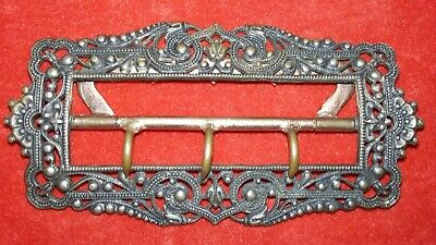 Classy Ornate Richly Decorated Antique French Victorian Era Belt Buckle