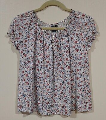 EUC Polo Ralph Lauren Girls Back To School Floral Peasant Top Size 8