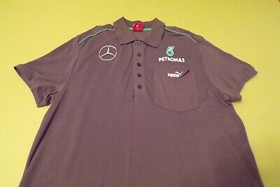 MERCEDES AMG PETRONAS F1 TEAM ISSUE POLO SHIRT MENS LARGE by PUMA